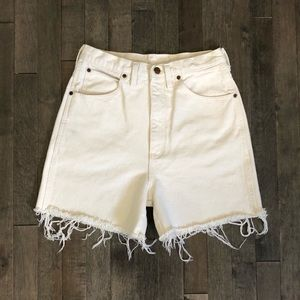 Vintage Lands End white cut off jean shorts!!!